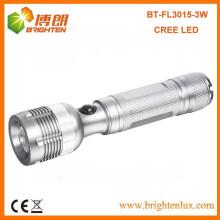 Factory Supply High Powered Aluminium Robinet réglable 3watt XPE R2 Lanterne à torche creuse led