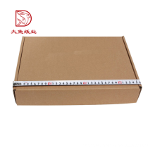 Oem custom cheap price corrugated flat apparel packing carton box with specification