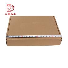 Oem preço barato personalizado plana caixa de embalagem de roupas plana ondulado com especificação