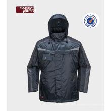 Características de seguridad del abrigo a prueba de viento de los hombres Ropa de trabajo del parka en más tamaño chaqueta