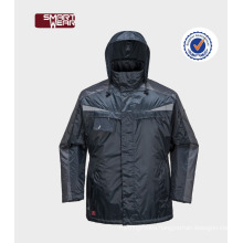 Men's windproof coat security features Workwear parka in plus size jacket