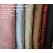 Поли-вискоза жаккард для одежды подкладка