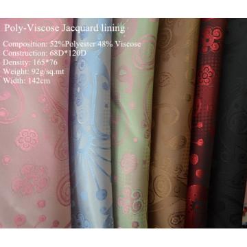 Jacquard de poli-viscosa para el forro de la ropa