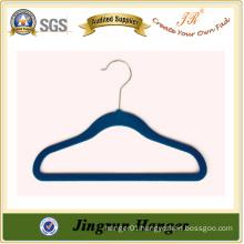 Best Selling Blue Plastic Flocking Hanger for Kids