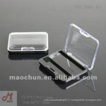 MC2001-B1 Couvercle de fenêtre petite boîte à rayons pour les yeux en plastique, palette de maquillage pour les yeux en gros, porte-bouteilles en gros