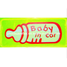 15cm X 5cm Baby in Car High Visibility Sticker En13356