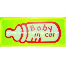 Bebê de 15cm x 5cm na alta visibilidade da etiqueta do carro En13356