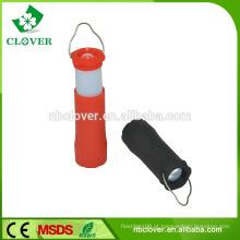 3 * bateria AAA 1W Flexib luz de acampamento conduzida telescópica, tocha acampando, lanterna de acampamento