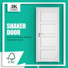 JHK-SK04 Wooden Almirah Designs 4 Panel Solid Wood Door Interior