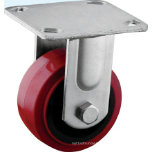 Heavy Duty Top Rigid Plate Polyurethane Casters