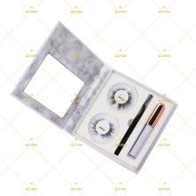 Marble Dollar Eyelash Branding Kit Set 5 2 3 multi-pairs For Eyeliner Magic Glue Pen Magnet Lashes Applicator Tweezers Case
