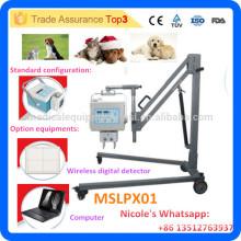 MSLPX01-I 4.0kw equipos de rayos X veterinarios de alta frecuencia