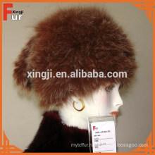 Woven Fox Fur Hat for women