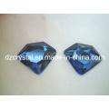 Accesorios de joyería de cristal de moda azul