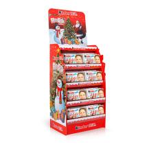 Supermarket Snacks Floor Display Stands Cardboard for Chocolate Cookies