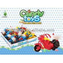 Pull Back motocicleta juguetes de caramelo