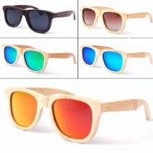 gafas de sol de madera de bambú polarizadas de moda del logotipo 2017 para los hombres y las mujeres