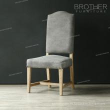 La silla de cena más popular del roble ergonómico del estilo copetudo de la tela