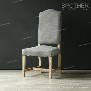 Beliebtester Stuhl aus Stoff mit Tufted-Style Ergonomischer Stuhl aus Eiche