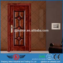 JK-SW9203 Preços de porta de aço em madeira de apartamentos para a Roménia