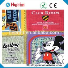 des soins personnalisés imprimés tags étiquettes vêtements