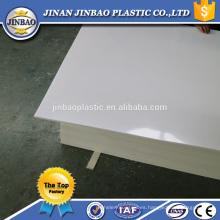 fábrica china 1220x2440mm 8mm hoja de plástico pp precio de la resina