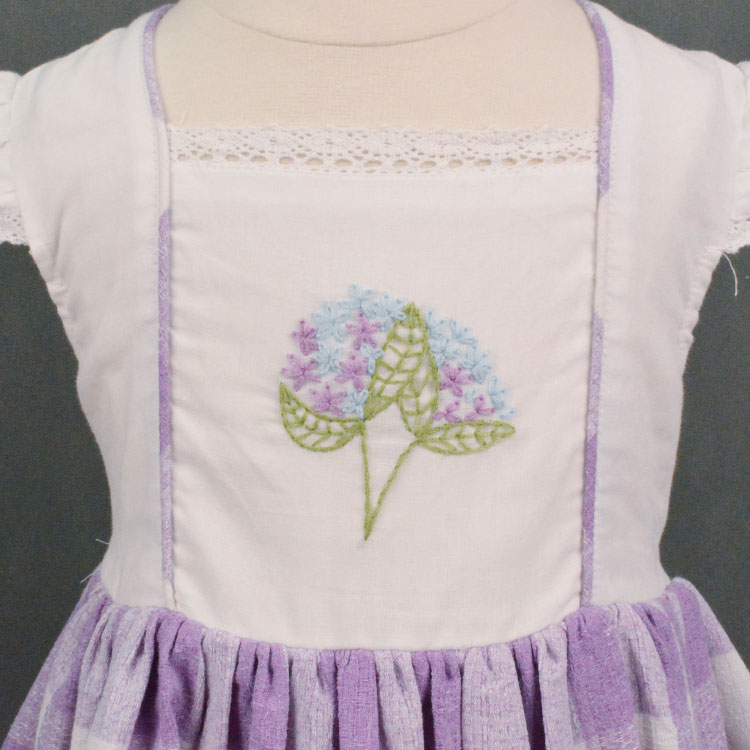 Embroidered Cotton&Linen Dress for Girl 2-10 Year