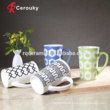 Taza de cerámica taza blanca taza de café