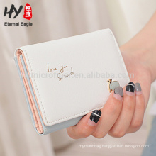 Custom size large capacity simple cute 3 fold wallet