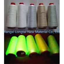 2015 New Product Glow Fibre Luminescent Glow Yarn