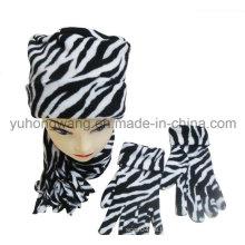 Kundenspezifische Dame Knitted Winter Warm Gedruckt Polar Fleece Set