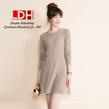 FashionPure Pullover ladies Woolen Knitted Long Cashmere Sweaters dress