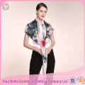 Wholesale prices unique design handmade lady silk scarf with many colors