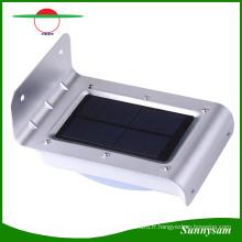 Lumière actionnée solaire de sonde de mouvement de LED 16 LED, lumière sans fil imperméable de nuit, lumière de sécurité pour l'entrée, voies, jardin, plate-forme, yard