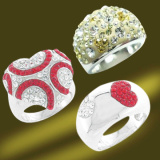 925 Silver Crystal Pigeon Ring (RSL3374)