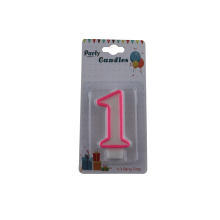 Paraffine Wax Birthday Number Candles