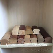 partes de la escalera de madera