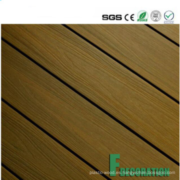 Precio competitivo impermeable madera compuesto de plástico WPC cubierta exterior