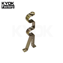 KYOK 28*22mm double curtain rod wholesale  iron material double curtain rod support  D910