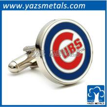 personalizar abotoaduras metálicas, mancuigas personalizados Chicago Cubs