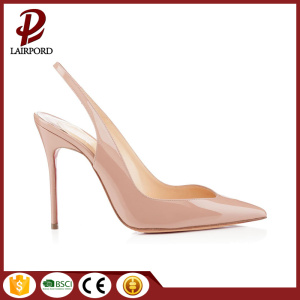 beige high heel shoes women genuine stiletto