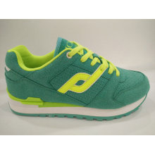 Frauen Athletic Lace up Green Gym Schuhe