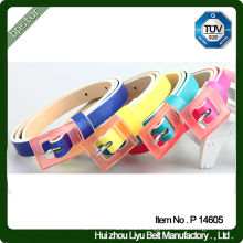Fashion Solid Color Women Belts with PU Leather
