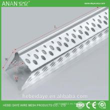 Perla de la esquina de la grabación de la pared del drywall de la alta calidad acanalada para el estuco
