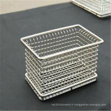 Panier de rangement en treillis métallique bon marché et fin en acier inoxydable