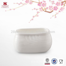 Wholesale ceramic household sugar bowl, white cheap sugar pot