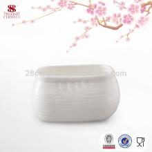 Оптовая торговля керамической сахар чаша, белый дешевый сахар горшок