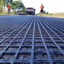 Matériau de construction de route géogrille en fibre de verre de la meilleure qualité