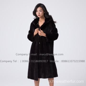 Κοκκινάγη Mink Fur Reversible Women Overcoat