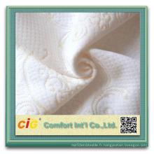 Tissu 100% polyester matelas jacquard